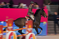 Rider Alberto Zorzi and his horse Danique during Madrid Horse Week at Ifema in Madrid, Spain. November 26, 2017. (ALTERPHOTOS/Borja B.Hojas)