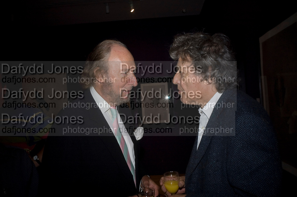 ED VICTOR AND TOM STOPPARD, Matthew Carr: New Work. Marlborough Gallery. Albermarle St. London. 24 June 2008.  *** Local Caption *** -DO NOT ARCHIVE-© Copyright Photograph by Dafydd Jones. 248 Clapham Rd. London SW9 0PZ. Tel 0207 820 0771. www.dafjones.com.
