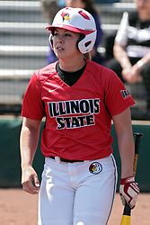 19 April 2014:  Regan Romshek during an NCAA women's softball game between the Evansville Purple Aces and the Illinois State Redbirds on Marian Kneer Field in Normal IL