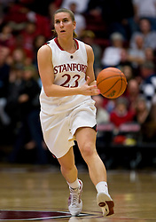 February 20, 2010; Stanford, CA, USA;  Stanford Cardinal guard Jeanette Pohlen (23) during the second half against the Oregon St. Beavers at Maples Pavilion.  Stanford defeated Oregon State 82-48.