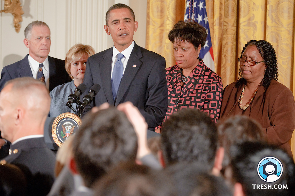 President Obama delivers remarks to commemorate the enactment.of the Matthew Shepard and James Byrd, Jr. Hate Crimes Prevention Act in the East Room of the White House, Wednesday, October 28, 2009.