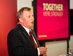 Pictured: Alex Rowley<br /> Scottish Labour leader Kezia Dugdale and deputy leader Alex Rowley had t make swift changes to their respective speeches forllowing the announcement of a General Election in June just before they headed to the lectern at Edinburgh's Dynamic Earth to launch Scottish Labour's council election campaign today. <br /> Ger Harley | EEm 18 April 2017