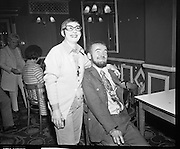 Maureen Potter  with Christy Brown with 'Gaels of Laughter'.16/09/1970