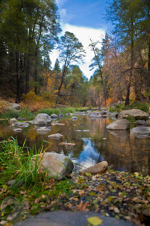 Arizona's Oak Creek Canyon in Autumn.