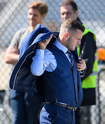 © Licensed to London News Pictures. 06/06/2016. Luton, UK. England midfielder JACK WILSHIRE puts on his jacket as he arrives at the airport, before Members of England national football squad board a plane at Luton airport in Bedfordshire, England, to head for their training camp in France, ahead of the start of the UEFA Euro 2016 championships.  Photo credit: Ben Cawthra/LNP