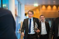 DEU, Deutschland, Germany, Berlin,04.02.2018: Daniel Günther, Ministerpräsident von Schleswig-Holstein, kommt zu den Koalitionsverhandlungen zwischen CDU/CSU und SPD im Willy-Brandt-Haus.