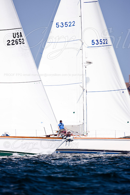 Misty and Freedom, class 12, sailing at the start of the Newport Bermuda Race 2010. The race began in Newport, Rhode Island on June 18, 2010.
