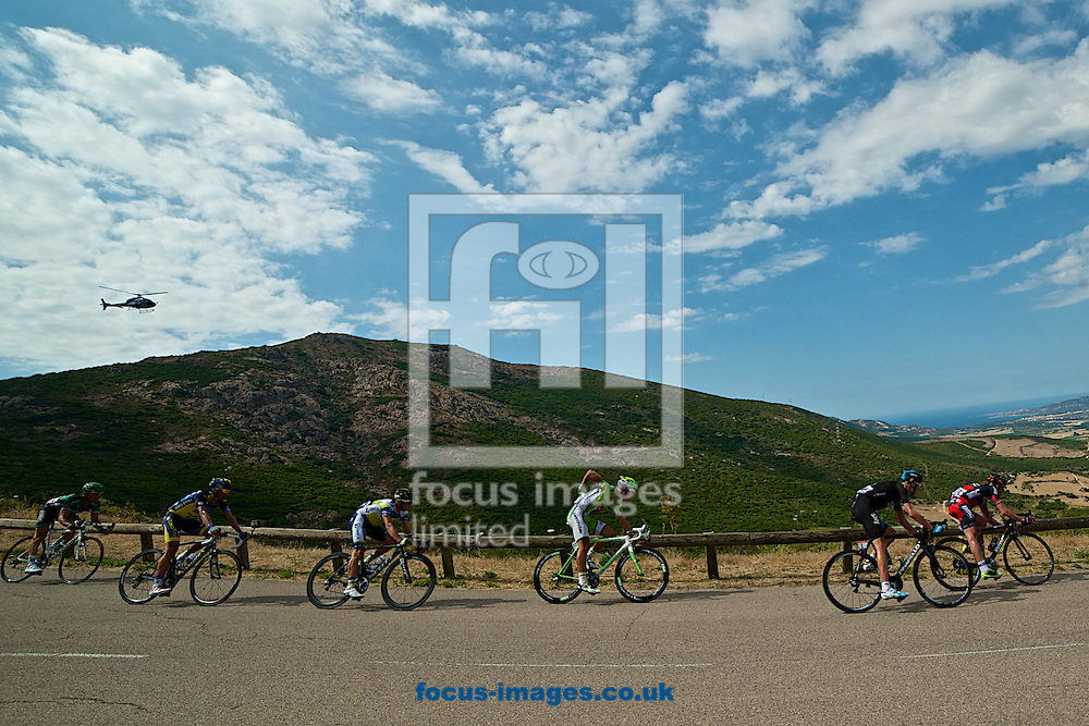 Picture by Ian Wadkins/Focus Images Ltd +44 7877 568959<br /> 01/07/2013<br /> Riders make the final descent during stage 3 of the 2013 Tour de France in Calenzana, Corsica.