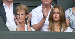 LONDON, ENGLAND - Wednesday, June 29, 2011: Andy Murray's mother Judy and girlfriend Kim Sears during the Gentlemen's Singles Quarter-Final match on day nine of the Wimbledon Lawn Tennis Championships at the All England Lawn Tennis and Croquet Club. (Pic by David Rawcliffe/Propaganda)