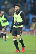 Jamaal Lascelles warms up during the Premier League match between Manchester City and Newcastle United at the Etihad Stadium, Manchester, England on 20 January 2018. Photo by George Franks.