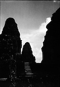 Three of the five towers of East Mebon.