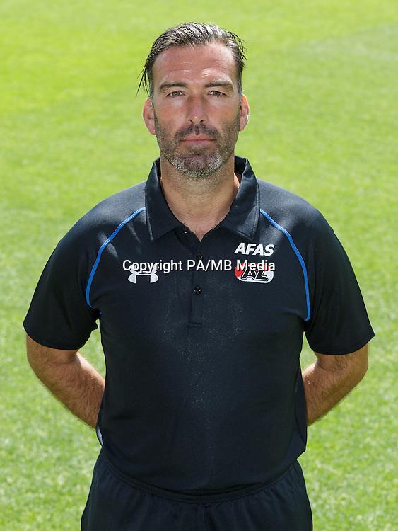 Nick van Aart during the team photocall of AZ Alkmaar on July 17, 2015 at Afas Stadium in Alkmaar, The Netherlands