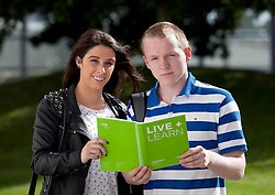 Repro Free: 14/09/2012.Niamh Smith from Finglas with Stephen Foi from Lucan pictured at the Institute of Technology Blanchardstown (ITB) Annual Welcome Barbeque for 2012 First Year Students, their first social gathering of their academic year..ITB have thirty full time courses covering Electronics and Computer Engineering, Computing, Business, Mechatronics, Applied Social Studies in Social Care, Business and Business with Information Technology , International Business, Sports Management and Coaching along with Creative Digital Media, Social and Community Development, Early Childhood Care and Education, and Horticulture. .There are also a number of part time Springboard Courses on offer at ITB, the initiative launched in May for unemployed people in areas such as, Mechatronics, Computing, Digital media, Energy Efficiency and Retrofit, and Languages. The initiative is aimed at those who were previously working but lost their jobs or were made redundant and who, with some up-skilling, could fill current or future job shortages. Pic Andres Poveda..www.itb.ie..For further information, an interview with Mairead Murphy, photography from the event please contact Ann-Marie Sheehan, Aspire PR, Telephone : 01 827 5181 / 087 298 5569 or email : annmarie@aspire-pr.com