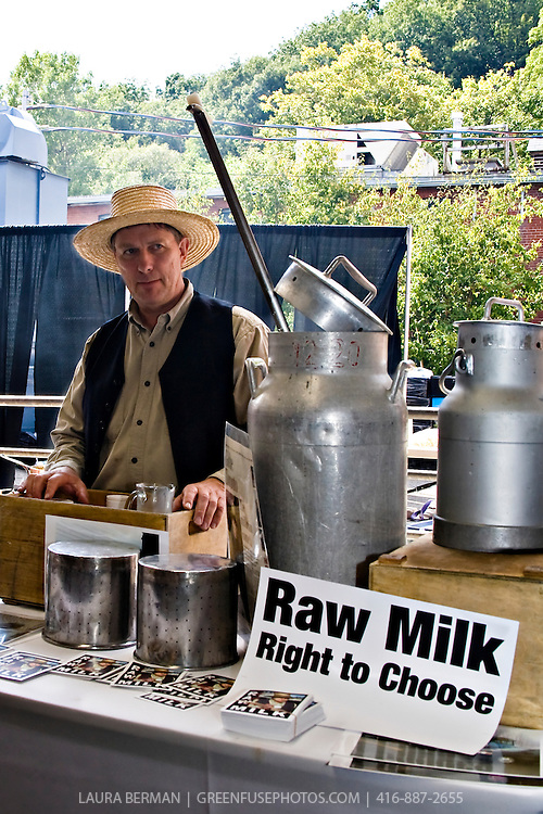 Canadian raw milk proponent, farmer Michael Schmidt. (2007, Picnic at the Brickworks)