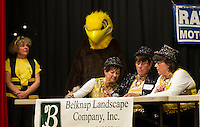 "The ""Tappermentals"" Team of Joan Frates, Pat Chase and Jeanne Breton sponsored by Frates Creative Art Center in the Lakes Region Scholarship Foundations annual Spelling Bee at Laconia High School Thursday evening.  (Karen Bobotas/for the Laconia Daily Sun)"