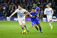 Football - 2018 / 2019 Premier League - Cardiff City vs. Everton<br /> <br /> Bobby Reid of Cardiff City on the attack Seamus Coleman of Everton defends , at Cardiff City Stadium.<br /> <br /> COLORSPORT/WINSTON BYNORTH