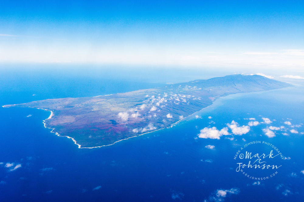 Aerial photograph of Molokai, Hawaii, USA