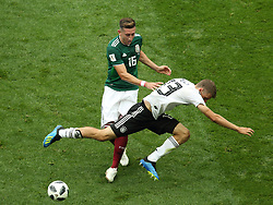 June 17, 2018 - Moscow, Russia - June 17, 2018, Russia, Moscow, FIFA World Cup, First round, Group F, Germany vs Mexico at the Luzhniki stadium. Player of the national team Hctor Miguel Herrera Lpez (Credit Image: © Russian Look via ZUMA Wire)