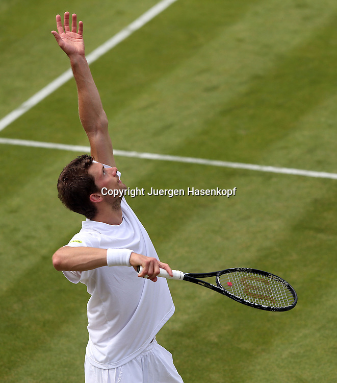 Wimbledon Championships 2013, AELTC,London,<br /> ITF Grand Slam Tennis Tournament,<br /> Daniel Brands von oben,