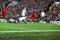 Football - 2019 / 2020 Premier League - Liverpool vs. Tottenham Hotspur<br /> <br /> Harry Kane of Tottenham Hotspur scores his sides first goal  to make the score 0-1 after only 48 seconds, at Anfield.<br /> <br /> COLORSPORT/PAUL GREENWOOD