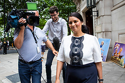 © Licensed to London News Pictures. 10/07/2018. London, UK. Priti Patel MP seen in Westminster. Photo credit: Rob Pinney/LNP