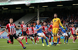 Frankie Kent of Peterborough United watches the ball go out of play against Lincoln City - Mandatory by-line: Joe Dent/JMP - 12/10/2019 - FOOTBALL - Weston Homes Stadium - Peterborough, England - Peterborough United v Lincoln City - Sky Bet League One