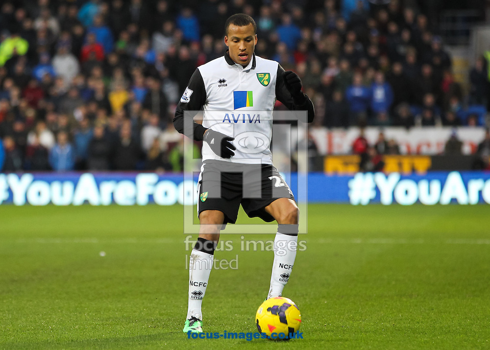 Picture by Tom Smith/Focus Images Ltd 07545141164<br /> 01/02/2014<br /> Martin Olsson of Norwich City during the Barclays Premier League match at the Cardiff City Stadium, Cardiff.