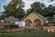 Homes for rangers sit just outside of Garamba National Park Headquarters on November 27, 2017.