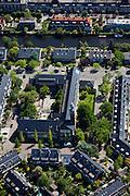 Nederland, Noord-Holland, Amsterdam, 12-05-2009; Amsterdam-Zuid, Vossius gymnasium (in het midden met klokkentoren) aan de MesschaertstraatSwart collectie, luchtfoto (toeslag); Swart Collection, aerial photo (additional fee required).foto Siebe Swart / photo Siebe Swart