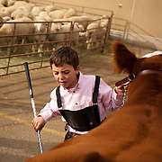 Ethan Drager, 9, had an entry in the prospect steer competition.