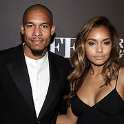NLD/Amsterdam/20141115 - Life After Football fair 2014, Nigel de Jong en partner Winonah de Jong - Leefland