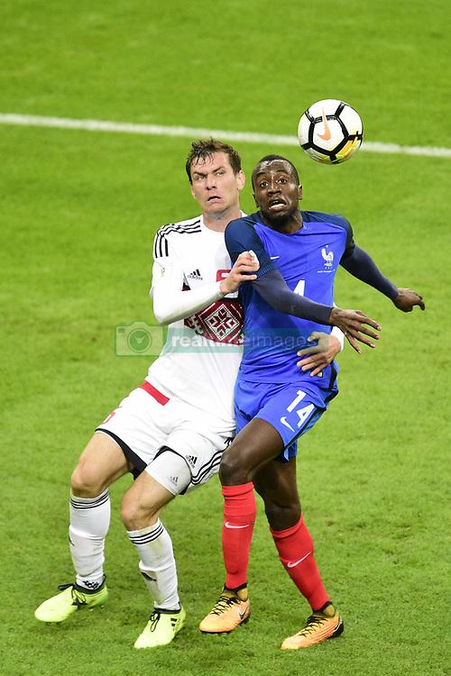 October 10, 2017 - St Denis, France, France - Blaise Matuidi (France) vs Maksim Volodko  (Credit Image: © Panoramic via ZUMA Press)
