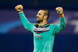 Eduardo Carvalho #24 of GNK Dinamo Zagreb celebrates after football match between GNK Dinamo Zagreb, CRO and Arsenal FC, ENG in Group F of Group Stage of UEFA Champions League 2015/16, on September 16, 2015 in Stadium Maksimir, Zagreb, Croatia. Photo by Urban Urbanc / Sportida