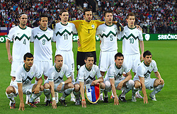 Team of Slovenia at friendly football match between National team of Slovenia and New Zealand before World Cup South Africa 2010 on June 04, 2010, at Stadium Ljudski vrt, in Maribor, Slovenia. (Photo by Vid Ponikvar / Sportida)