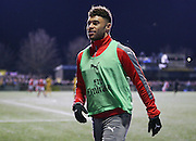Arsenal Midfielder Alex Oxlade-Chamberlain warms up during the The FA Cup match between Sutton United and Arsenal at Gander Green Lane, Sutton, United Kingdom on 20 February 2017. Photo by Phil Duncan.