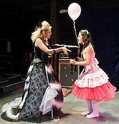 Prima La Musica<br /> Opera At Home Ensemble<br /> at The Arcola Theatre, London, Great Britain <br /> 25th August 2011 <br /> Rehearsal <br /> Grimeborn The Opera Festival<br /> directed by Jose Manuel Gandia<br /> <br /> <br /> Alexia Mankovskaya (as Eleonora)<br /> <br /> Merrin Lazyan (as Tonina)<br /> <br /> <br /> Photograph by Elliott Franks