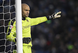 Carl Ikeme of Wolverhampton Wanderers gives his team instructions - Mandatory byline: Paul Terry/JMP - 07966 386802 - 01/01/2016 - FOOTBALL - Falmer Stadium - Brighton, England - Brighton v Wolves - Sky Bet Championship