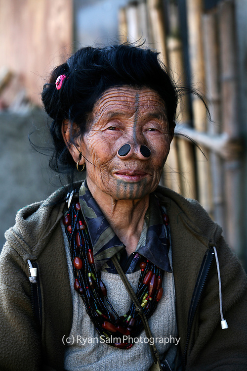 Local woman from the village of Ziro in Arunachl Pradesh.