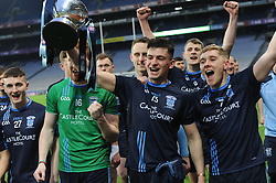 Westport's Ronan Geraghty and James Walsh ceblebrate their All Ireland win.<br />Pic Conor McKeown