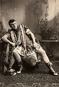 (George) Osmond Tearle (1852-1901) English actor-manager and fine Shakespearian actor. Tearle here as the name part in  'Coriolanus' by William Shakespeare. Photogravure published c1895.
