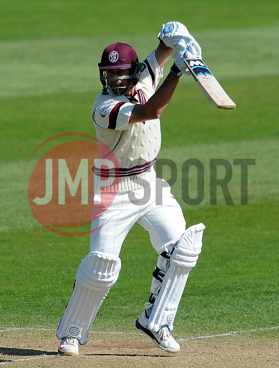 Somerset's Tim Groenewald- Photo mandatory by-line: Harry Trump/JMP - Mobile: 07966 386802 - 14/04/15 - SPORT - CRICKET - LVCC County Championship - Day 3 - Somerset v Durham - The County Ground, Taunton, England.