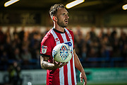 Neal Eardley of Lincoln City during the EFL Sky Bet League 1 match between Rochdale and Lincoln City at the Crown Oil Arena, Rochdale, England on 17 September 2019.