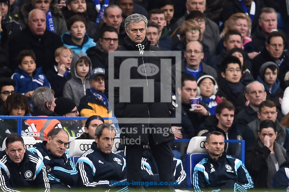 Manager of Chelsea Jose Mourinho during the Barclays Premier League match against Southampton at Stamford Bridge, London<br /> Picture by Andrew Timms/Focus Images Ltd +44 7917 236526<br /> 15/03/2015