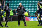 Brian Rice, manager of Hamilton Academical FC at the final whistle during the Ladbrokes Scottish Premiership match between Hibernian FC and Hamilton Academical FC at Easter Road Stadium, Edinburgh, Scotland on 22 January 2020.