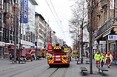 Gasaustritt in der Innenstadt