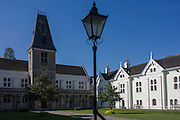Christ's Chapel of God's Gift at Dulwich, located in the heart of Dulwich Village, the first of Edward Alleyn's foundation buildings to be completed, being consecrated by the Archbishop of Canterbury on 1 September 1616.