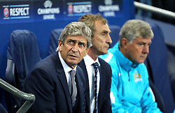 Manchester City Manager, Manuel Pellegrini during the UEFA Champions League group stage match between Manchester City and Juventus at the Etihad Stadium - Mandatory byline: Matt McNulty/JMP - 07966386802 - 15/09/2015 - FOOTBALL - Etihad Stadium -Manchester,England - Manchester City v Juventus - UEFA Champions League - Group D