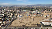 General overall aerial view of L.A. Stadium and Entertainment District at Hollywood Park under construction and the Forum on Tuesday, Dec. 4, 2018 in Inglewood, Calif. The venue, privately financed by Los Angeles Rams owner Stan Kroenke, is scheduled to open in 2020. It will be the home to the Rams and the Los Angeles Chargers and will play host to Super Bowl LVI in 2022, 2023 College Football National Championship and the opening and closing ceremonies of the 2028 Olympics,