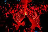 ROTTERDAM - marokanen vieren feest op het hofplein in rotterdam nadat ze het wk in rusland hebben gehaald <br /> Marokkaanse voetbalfans vieren oorverdovend feest in Rotterdam: &lsquo;Eindelijk!&rsquo;<br /> Getoeter. V&eacute;&eacute;l getoeter. De WK-kwalificatie van het Marokkaanse elftal wordt groots gevierd in Rotterdam. ,,Dit is de hemel.&rsquo;&rsquo;<br />  ROBIN UTRECHT