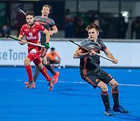 BHUBANESWAR, INDIA - Thierry Brinkman (Ned)  tijdens de  finale tussen België en Nederland bij het WK Hockey heren in het Kalinga Stadion. COPYRIGHT KOEN SUYK